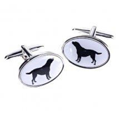 Orchid Designs Black Lab Cufflinks
