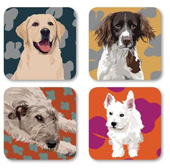 Leslie Gerry Dog Coasters