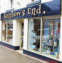 rainbow's end shop front newtown